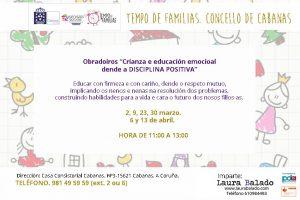 Cabanas. Crianza y educación emocional desde la Disciplina Positiva @ Casa Consistorial Cabanas | Oleiros | Galicia | España