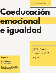 Coeducación emocional e igualdad @ CEIP José María Lage | Oleiros | Galicia | España