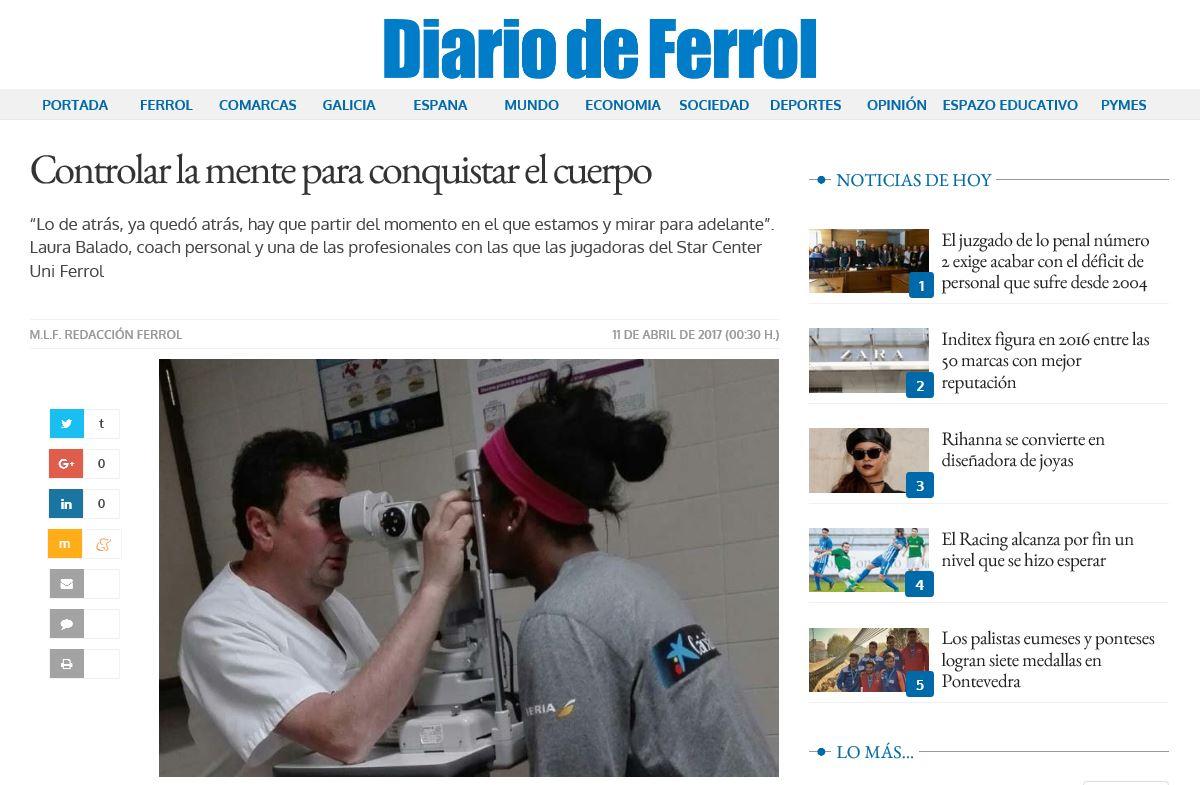 Diario de Ferrol, Galicia, Ferrol, Narón, La Coruña, Star Center Universitario, Baloncesto, Liga Femenina, coaching, coaching personal, coaching deportivo, mujer, crecimiento personal